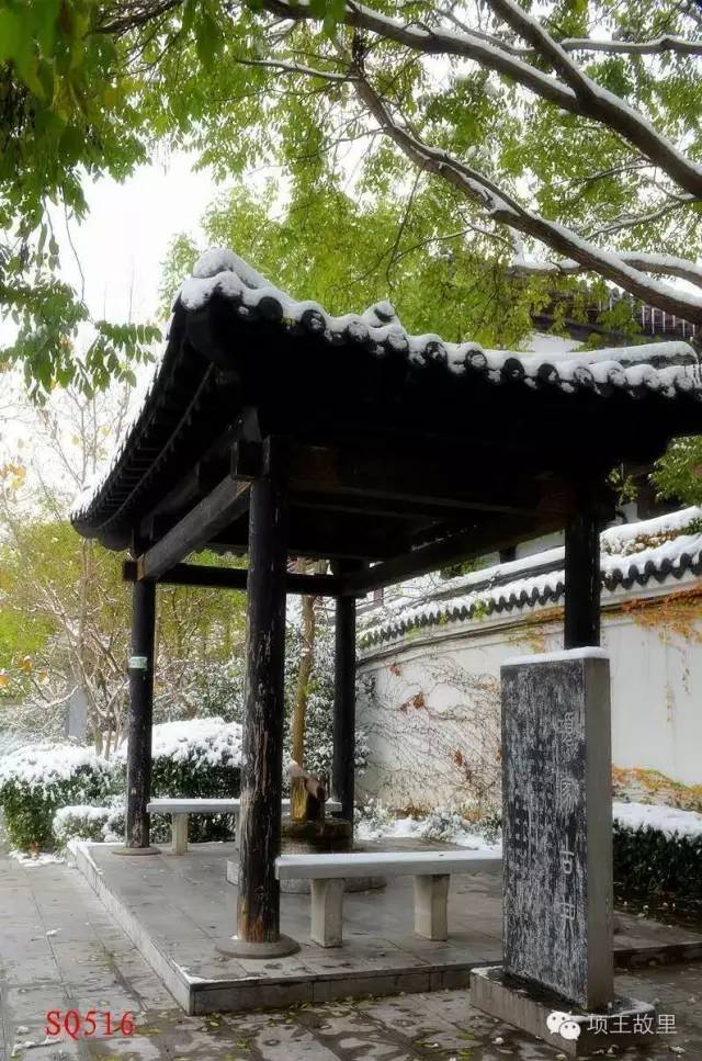 最美不过初雪,宿迁的项王故里就变成了西楚古城_14