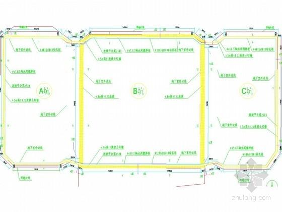 [福建]17米深基坑土钉墙结合桩锚支护施工图