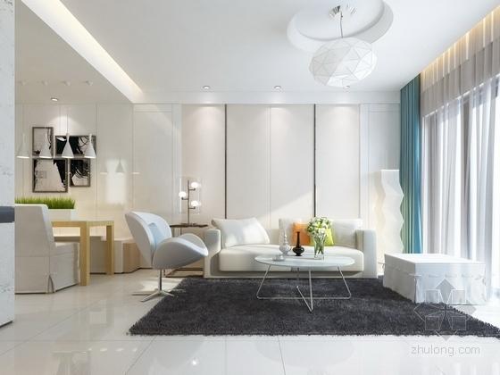 [惠州]现代风格温馨两居室样板间室内装修图(含效果) 效果