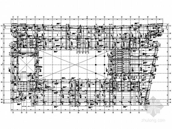 地上11层地下5层框架剪力墙总部大楼结构施工图(人防地下室、预应力楼板、筏板基础)