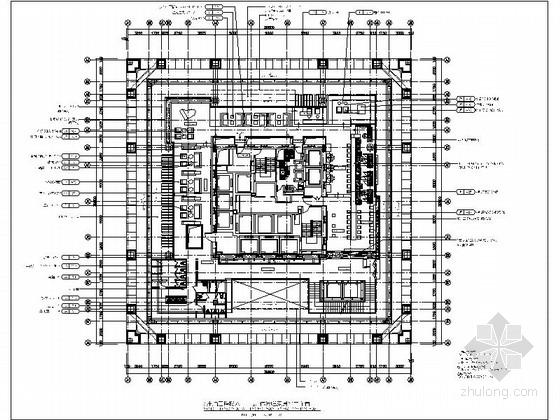 [北京]CBD某高端酒店休闲吧施工图(含实景)