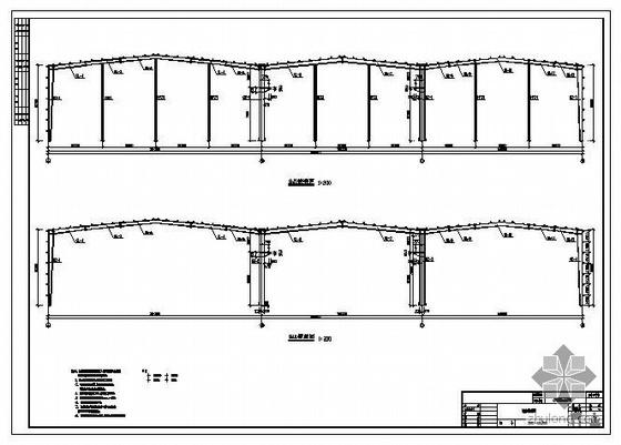 湖北某液压件有限公司门式钢架工业厂房结构施工图