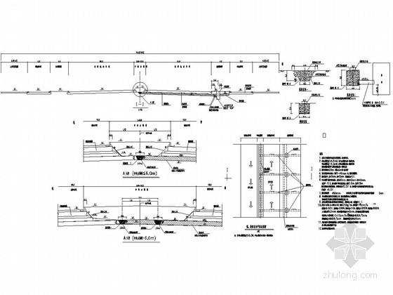 市政道路盲沟图(上宽80cm 底宽40cm 间距20米)