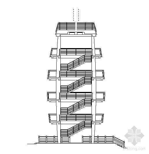 某文化广场观光塔施工图