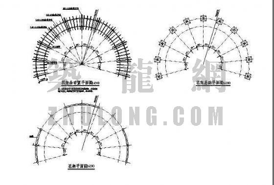 弧形花架施工图-3