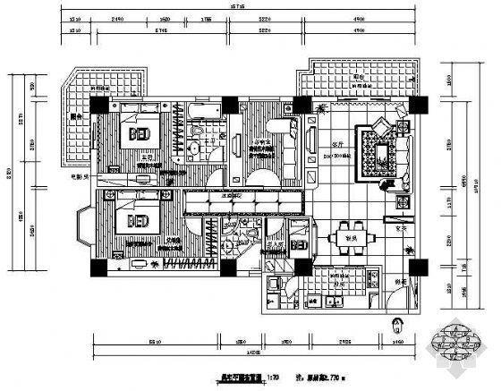 某三室二厅家居装修图