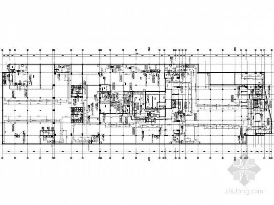 [湖南]高层商贸中心空调通风及防排烟系统设计施工图(大院设计)