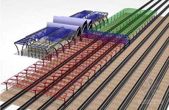 [宁夏]钢框结构火车站站房新技术应用(详细三维效果流程分析图)