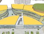 购物中心及下沉商业街SketchUp模型