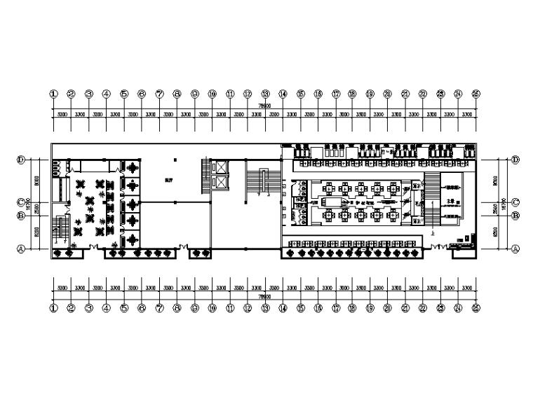 中式风格连锁火锅店设计CAD施工图