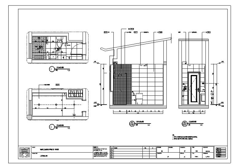 成都大都会现代中式风格室内设计施工图纸