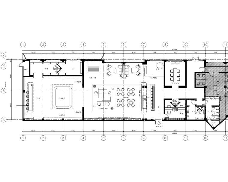 [江苏]集艾G&A-南京华润国际社区售楼处CAD施工图