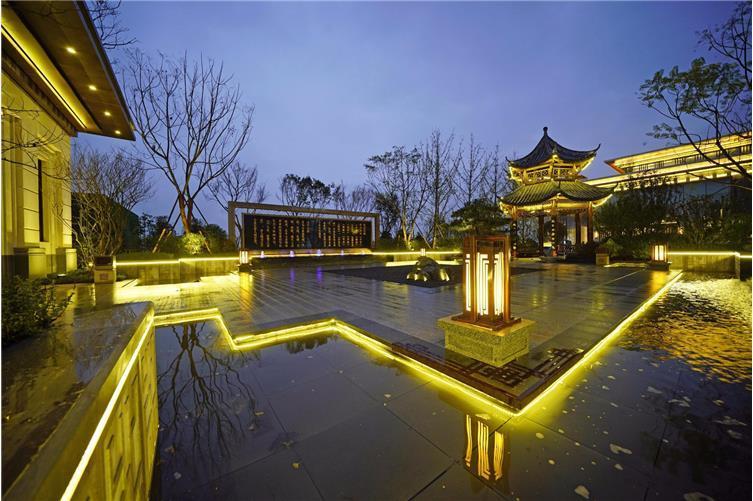 城建龙樾生态城示范区新中式景观