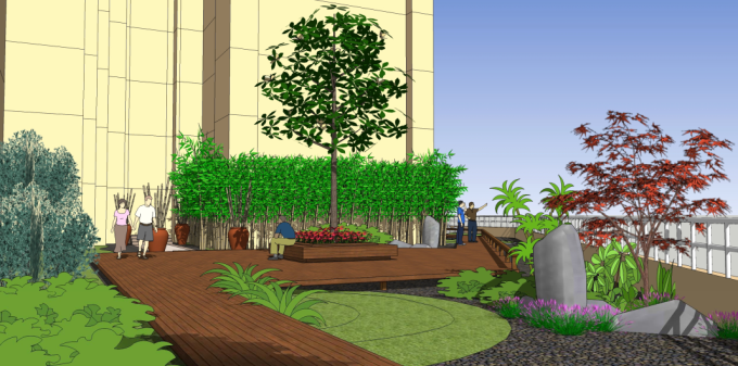 屋顶花园景观效果图