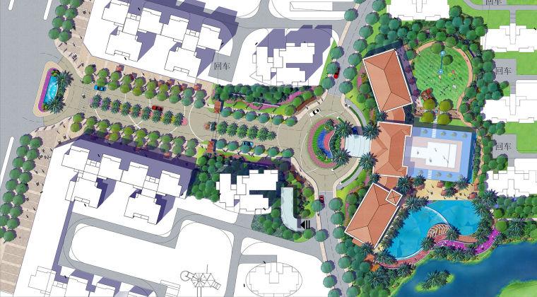 居住区小区规划彩色平面总平图(PDF+17页)