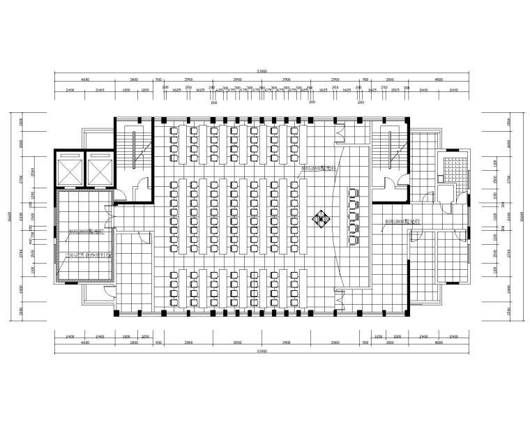 大型多功能厅装修施工图