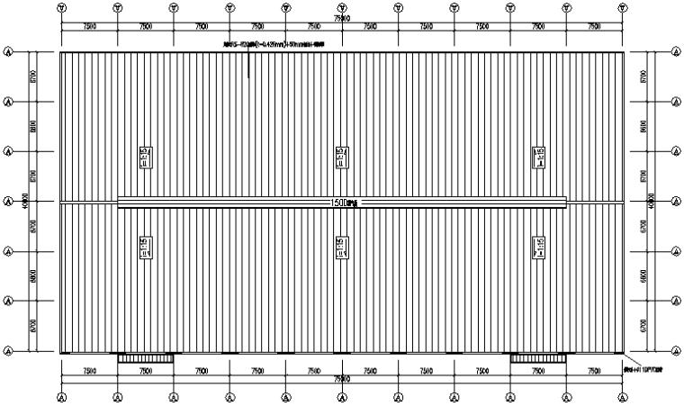 40米×75米门式刚架厂房钢结构厂房施工图(CAD,8张)