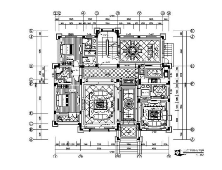 全套高端奢华别墅设计施工图(含效果图)