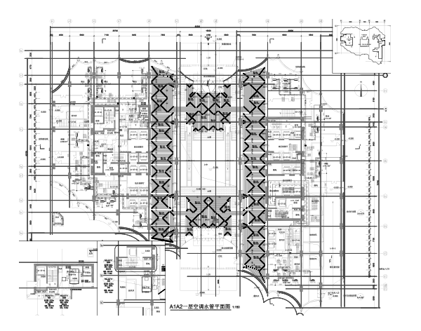 北京大型商业住宅区暖通全套施工图(330张)