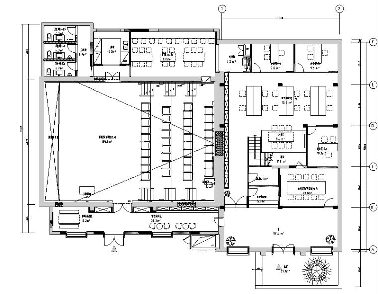 华谊兄弟办公室设计施工图(附效果图+物料表)