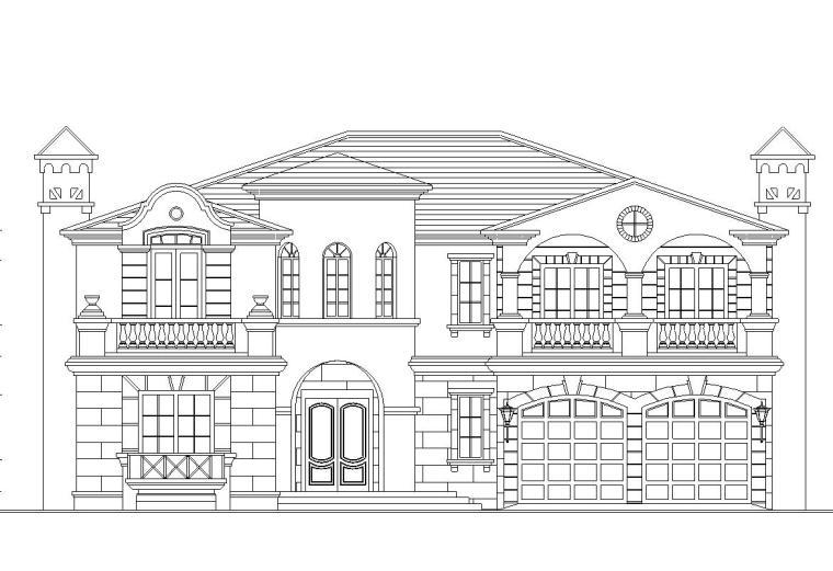 [广东]2层独栋别墅建筑施工图设计