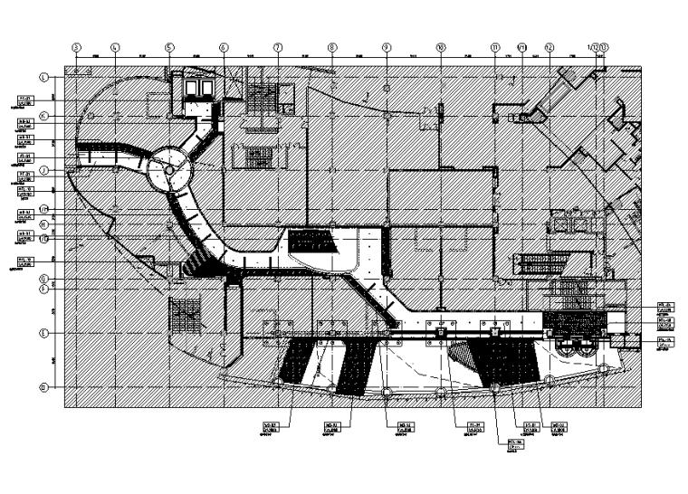 三迪中心商场设计施工图(附效果图+标识设计方案+SU草图模型+深化设计方案+概念设计方案)-总平面综合天花图