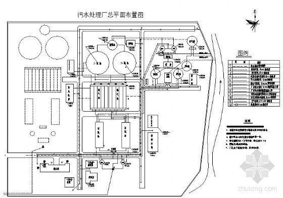 某市污水处理厂平面布置图(课设)