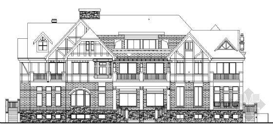 某德式多坡四联排别墅建筑设计方案