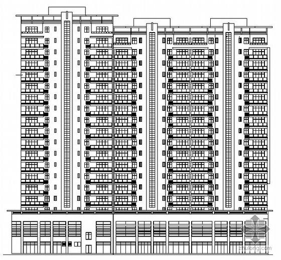 [江西]某小区十八层商住楼建筑施工图(2栋)