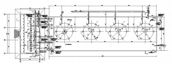 山西某循环水池及泵房平剖图
