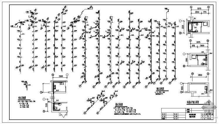 某带底商住宅排水施工图