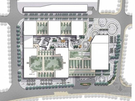 [湖南]现代高层商业区景观设计投标方案