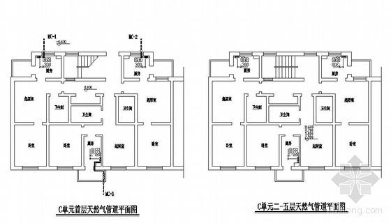 天津某住宅天然气工程图纸