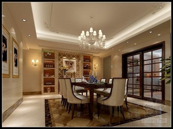 [沈阳]度假生活区古典简欧五居室装修图(含效果)餐厅效果图