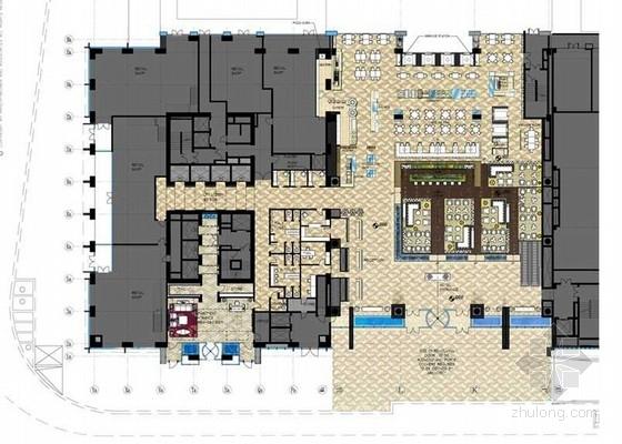 [天津]豪华综合性五星级商务现代风格酒店室内设计方案