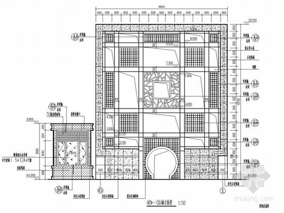 地上一层钢框架结构小区入口大门结构施工图(含建筑图)