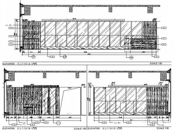 [佛山]现代高端甲级写字楼大小样板间室内装修图(含效果)开放办公区立面