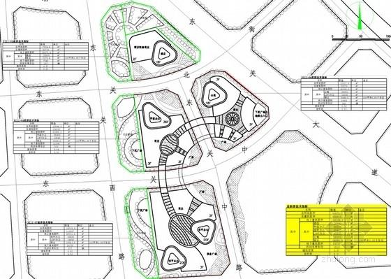 超高层办公及商业建筑设计总平面图
