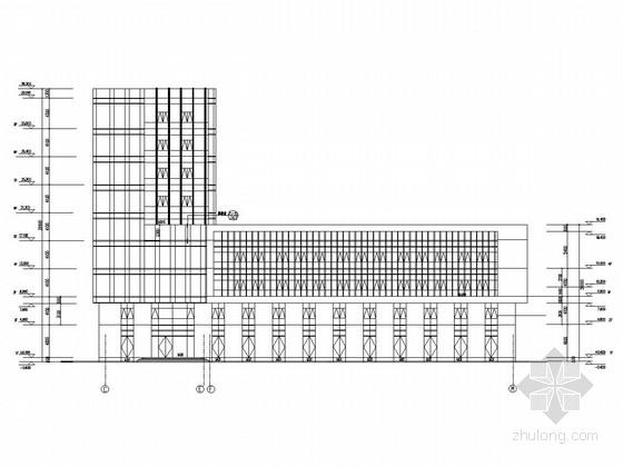 [上海]九层框剪结构石油化工生产基地结构图(含建筑图)
