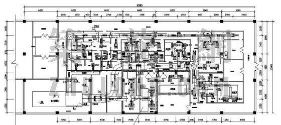 重庆某制药厂无菌原料药车间洁净空调设计图