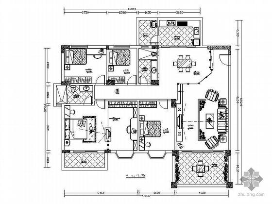 150平方米居室设计图