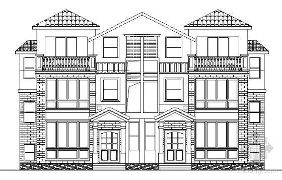 某三层小户型联体别墅建筑施工图