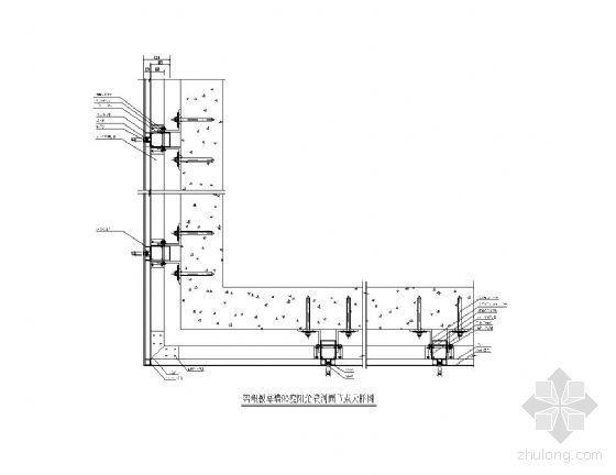 铝塑板幕墙90度阳角横剖面节点图