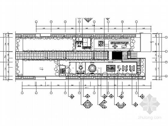 [广州]温馨浪漫花园会所空间设计CAD施工图