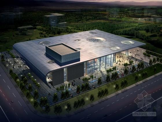 [江苏]4层玻璃幕墙剧院建筑设计方案文本(含cad)