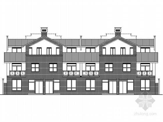 某四层四联排中式别墅建筑施工图