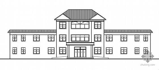 河南某乡卫生院三层综合楼建筑施工图(附带效果图)