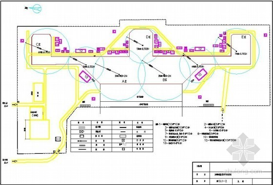 [湖南]航站楼工程施工平面布置图(基础、主体、装修、临电)
