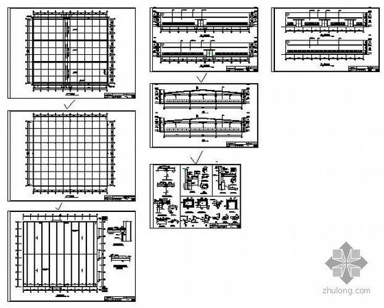 某药机设备厂生产车间建筑结构图