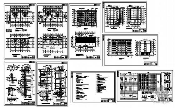 某县抗旱服务站六层商宅楼建筑施工图-4